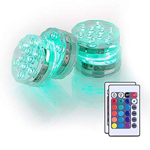 SqsYqz Unterwasser-led-licht, Wasserdichtes Farbiges Ferntauchlicht, Schwimmendes Licht, Wasserdichtes Tauchlicht