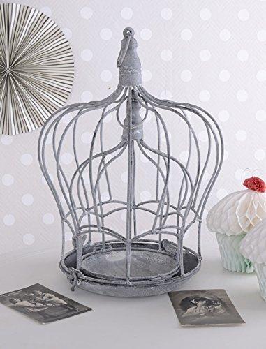Zwei Metallhauben Blumenkäfig Shabby Chic Vogelkäfig Kerzenleuchter Palazzo Exclusiv