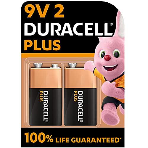 Duracell - NUEVO Pilas alcalinas Plus 9V , 6LR61 MN1604, paquete de 2