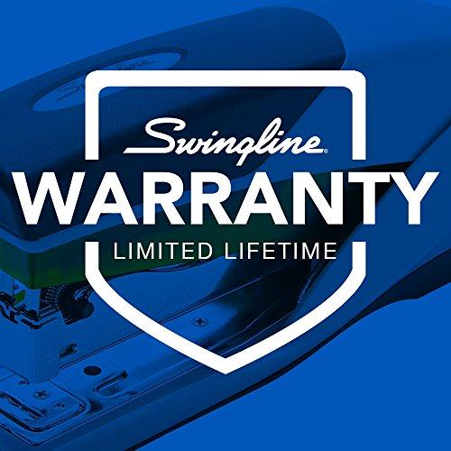Swingline Stapler, Optima 25, Full Size Desktop Stapler, 25 Sheet Capacity, Reduced Effort, Orange/Gray (66402A) Photo #2