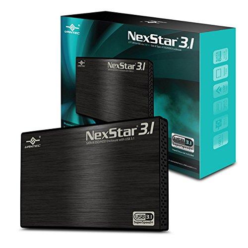 Vantec 2.5 SATA 6 Gb/s to USB 3.1 Gen II Type-A SSD/HDD Enclosure (NST-270A31-BK)
