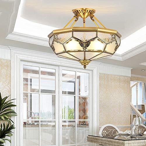 XXYHYQHJD Lámpara Balcón Lámpara Europea Soldadura Lámpara de Cobre Lámpara Foyer de la lámpara del Pasillo del Estudio La Mitad de Techo Dormitorio de la lámpara Colgante de luz