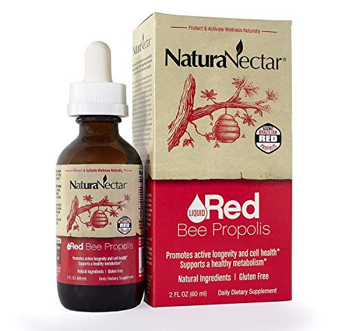 NaturaNectar Liquid Red Bee Propolis Drops – Natural Antioxidant Supplement, Healthy Inflammation Response & Immune Support – Premium Brazilian Propolis Flavonoids, Turmeric Alternative