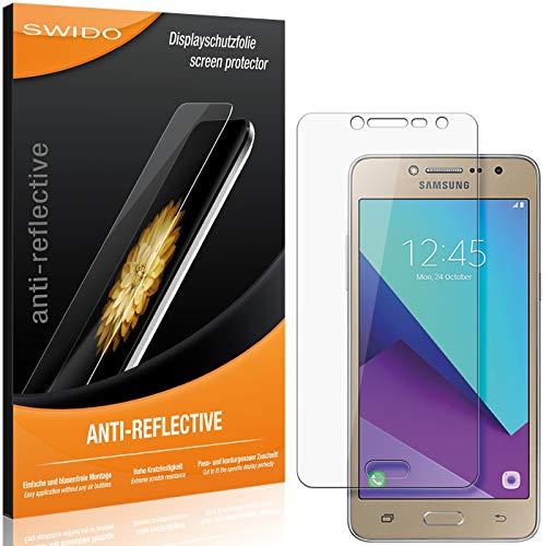 SWIDO Schutzfolie für Samsung Galaxy J2 Ace [2 Stück] Anti-Reflex MATT Entspiegelnd, Hoher Festigkeitgrad, Schutz vor Kratzer/Folie, Bildschirmschutz, Bildschirmschutzfolie, Panzerglas-Folie