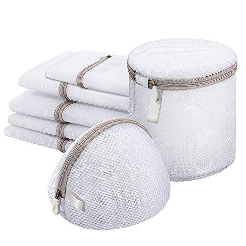 7Pcs Filets à Linge,Sacs à Linge en Maille Filet Linge Machine à Laver avec Fermeture Éclaie pour Vêtements Blouse Lingerie