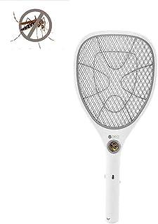 CFPPX Raqueta Mosquitos Recargable, Matamoscas eléctrico Mosca Raqueta Mosquitos Moscas USB con Luces, Multi