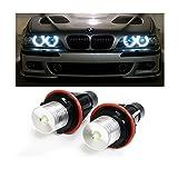 Ehao (2 5W 7000K Alto Potere Bianco LED Angel Eyes Anello di marcatura delle lampadine per la BMW Serie 5 6 7 X3 X5 (Fit E39 E53 E60 E63 E64 E65 E66 E83)