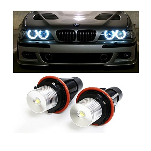 EHAO (2) 5W 7000K alto potere bianco LED Angel Eyes anello di marcatura delle lampadine per la BMW Serie 5 6 7 X3 X5 (Fit E39 E53 E60 E63 E64 E65 E66 E83)