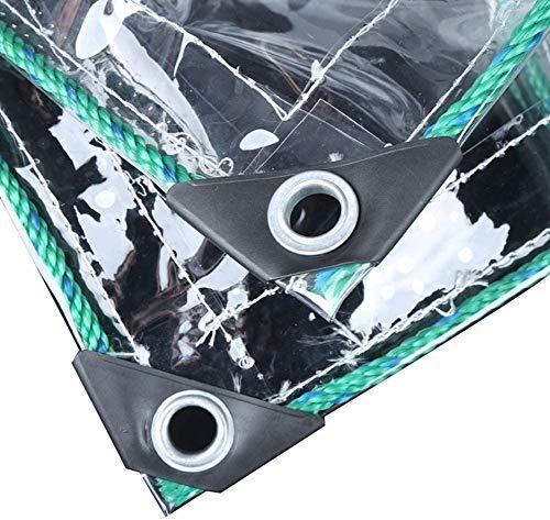 N\A ZHANGQINGXIU Lonas Impermeables Exterior,Lonas Transparentes Cubierta Impermeable Terraza Viento/Lluvia/Protección Solar con Ojales Película Suave De PVC De 0,5 Mm con Cuerda, 23 Tamaños