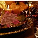 ASANMU Ahornblätter, 600 Stück Künstliche Herbst Ahornblätter Herbstlaub Kunstblätter Farbige Herbstlaub Blätter Tischdeko für Wandbild Halloween, Thanksgiving, Hochzeiten und Weihnachten Deko - 6