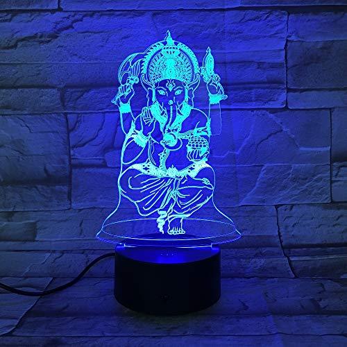 Buddha 3D Nachtlicht USB Schlaflicht 3AA Batterieleistung Tischlampe Schlafzimmer Dekoration Kindergeschenke
