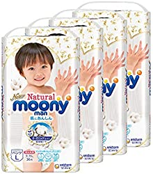 Moony Natural Pants, L, 36 Count, (Pack of 4)
