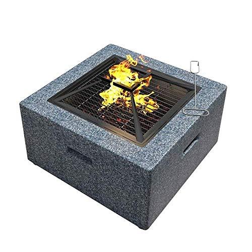 RANRANJJ Prima al Aire Libre calefactores de Patio Fogatas Tabla Patio Villa de calefacción Estufa Hogar Grill Stove Carbono Hoguera Estufa Grill