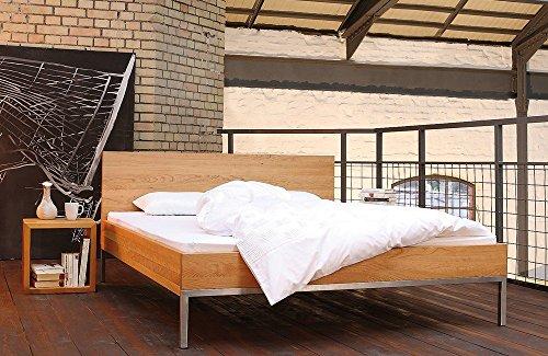 shogazi Schlafkultur Massivholzbett JANNU - sachliches Designerbett - Kirschbaum massiv, Größe:180x200cm