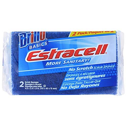 Brillo Basics Estracell No Scratch Scrub Sponge, 2 Count, Pack van 3 (Totaal 6)