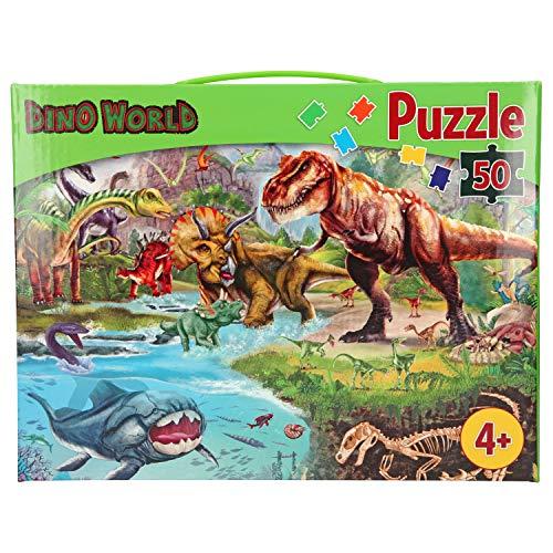 Depesche 10925 - Puzzle de 50 Piezas (58 x 40 cm), diseño de Dinosaurios