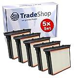 Trade-Shop 5X Polyester-Faltenfilter Filter Filter-Kassette Filter-Kartusche für Eibenstock DSS 25, DSS 25 A DSS 35 ip, DSS 35 M DSS 50, DSS 50 A DSS 1225