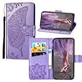 JZ [Embossed Series Butterfly & Flower PU Leather Wallet