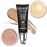 Light Mineral Cosmetics Bundle - BB Cream Moisturizer Concealer + Bella Terra Mineral Powder Foundation + Mineral Bronzer