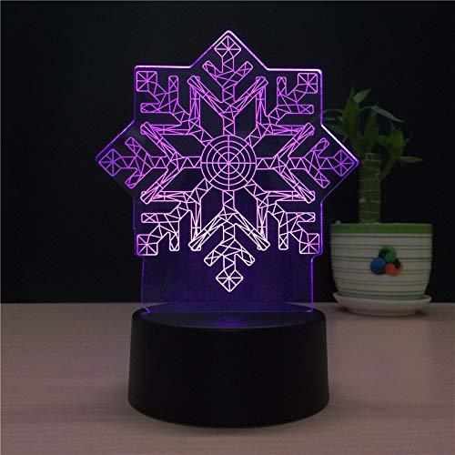 3D Led Modelo De Copo De Nieve De Invierno Novedad Diseño Lámpara De Mesa Decoración Del Hogar Usb Ahorro De Energía Luz Nocturna