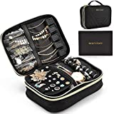 BEKVÄMT Travel Jewelry Organizer Case, Large Untangled Jewelry Storage Holder, Portable and Space-Saving Jewelry Bag Holds 5 Necklaces, 12 Pairs of Earrings, 30 Rings, Bracelet, Watch