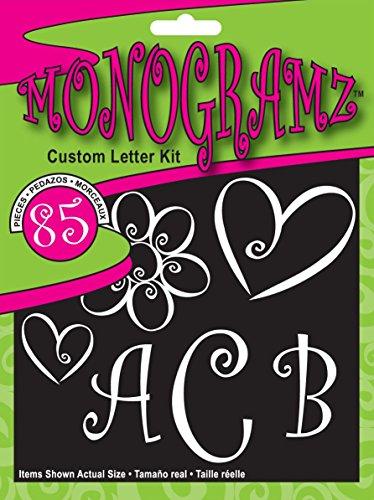 CHROMA 5380 White Initial Letters Monogramz Decal Kit