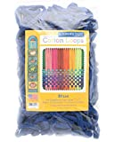 """Friendly Loom Potholder Cotton Loops 7"""" Traditional Size Loops Make 2 Potholders, Weaving Crafts for Kids and Adults-Blue by Harrisville Designs"""