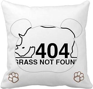 OFFbb-USA Rhinoceros Hornwort Body Bear - Funda cuadrada para almohada