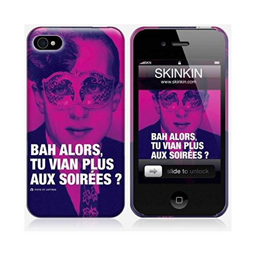 Skinkin - Carcasa para iPhone 4, diseño Original de Vian por Fists y Lettres