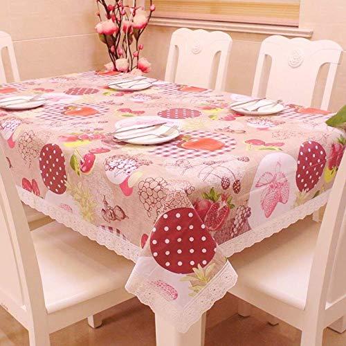 Ahuike Manteles Mesa Antimanchas Impermeable PVC Reutilizable Lavables Antimanchas para decoracion de La Mesa de Comedor Granada 105×155cm