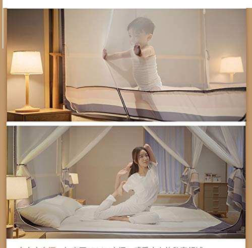 HXPP Doseles para Cama De Matrimonio, Baldaquino para Habitación De Los Niños Baby Cama Cielo También como Protección Mosquitos Buena Circulación del (Color : Chrome, Size : 1.8 * 2.2m)