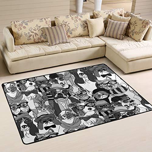 Rootti Fashion - Alfombra antideslizante para gatos y perros, para salón, comedor, dormitorio, cocina, pasillo, piso, felpudo, tamaño pequeño, 91 cm x 61 cm