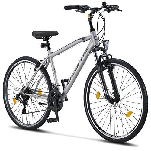 Licorne Bike Premium Trekking Bike 28 pouces - Vélo Garçon, Fille, Homme et Femme - Dérailleur...