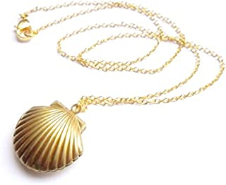 Sea Shell Locket, Mermaid Valentine Necklace, Little Shell Locket, Nautical Jewelry
