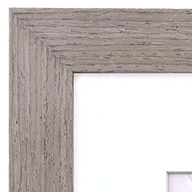 16x20 Picture Frame Walnut Wood - Matted for 11x14, Frames by EcoHome