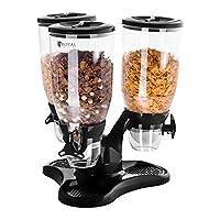 Contenitori da 3 l Compatibile con ciotole con profondità fino a 8 cm Chiusura ermetica In plastica trasparente Vaschetta in argento cromato per raccogliere briciole o gocce di latte
