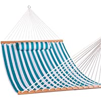 Lazy Daze Hammocks Quilted Fabric Double Hammock with Pillow