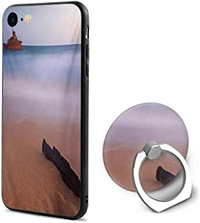 Shipwreck iPhone 6/iPhone 6s Cases,Shipwreck on Beach at Dusk in South Australian Lands by Sea Shore Navy Nautical Multicolor,Mobile Phone Shell Ring Bracket