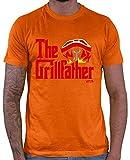 HARIZ The Grillfather Grill - Maglietta da Uomo Colore: Arancione. M