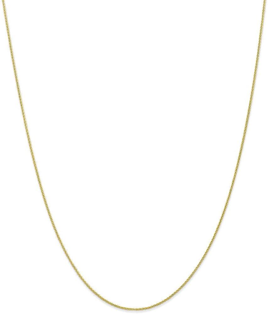 Solid 10k Yellow Gold .95mm Parisian Wheat Chain