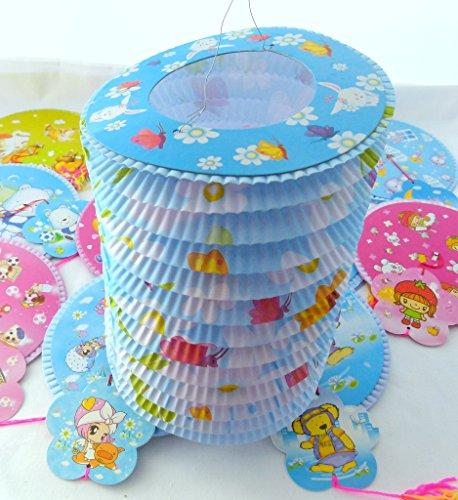 Sortierte Farben-Karikatur-Entwurf 16 Durchmesser chinesische Papierlaterne Tang Long (