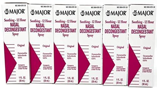 Nasal Decongestant Pump Mist Spray 12hr Oxymetazoline HCL 0.05% 30ml (6)