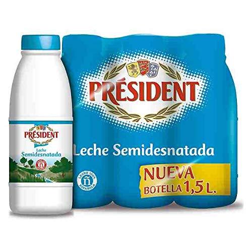 Leche Semidesnatada President botella Pack 6x 1.5L