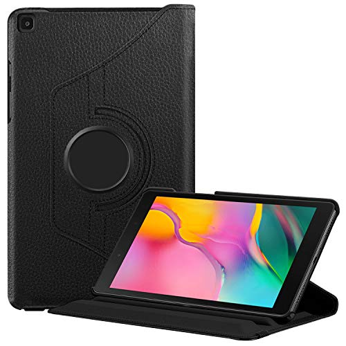 FINTIE Rotating Case for Samsung Galaxy Tab A8 - Premium Vegan Leather 360 Degree Swivel Stand Cover for Samsung Galaxy Tab A 8.0' 2019 Release 8-InchTablet (SM-T290 / T295), Black