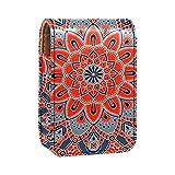 Porta rossetto Mini porta rossetto Mandala in polvere Borsa organizer con specchio per borsetta porta cosmetici da viaggio