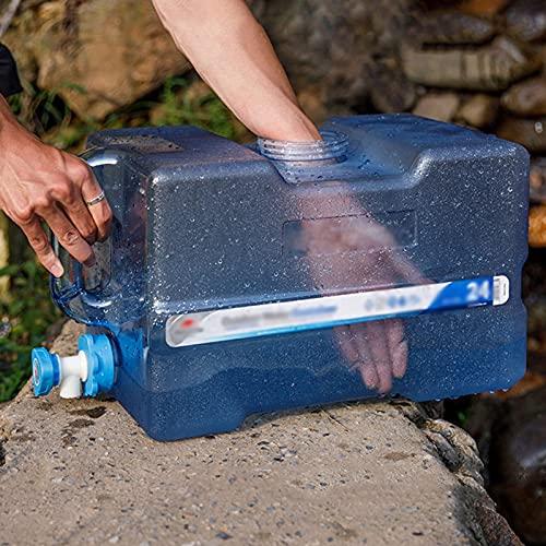 WWJQ Contenedor de Agua Portátil Sin BPA, Bidón De Agua de Grado Alimenticio para para Camping, Bidón Plástico Reutilizable, 12L 19L 24L con Grifo