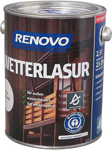 750 ml RENOVO Wetterlasur 8410 Nussbaum, Wasserbasiert