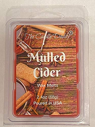 The Candle Daddy Mulled Cider Scented Wax Melts - 2 Ounces - 6 Cubes - 1 Pack