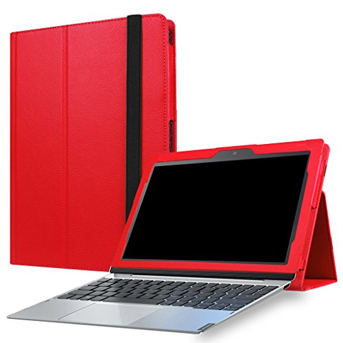 Lenovo MIIX 320 Case,Mama Mouth PU Leather Folio Stand Cover for 10.1' Lenovo MIIX 320 (10.1 Inch HD IPS Touch) 2in1 Tablet (with Auto Sleep/Wake Feature),Red