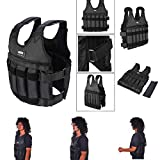 Sports Weighted Vest for Women Men Adjustable Weight 110LB Exercise Training Fitness Body Weight Vests for Running, Boxing Training Workout, Jogging, Walking